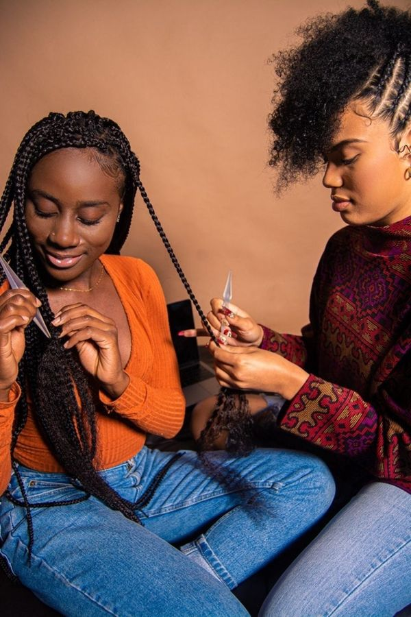 This mother-daughter duo created a tool to help you take down braids