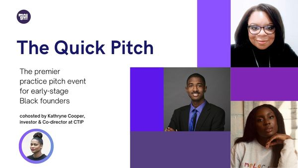 [Watch] Black founders practice their pitch with Kathryne Cooper of CTIP
